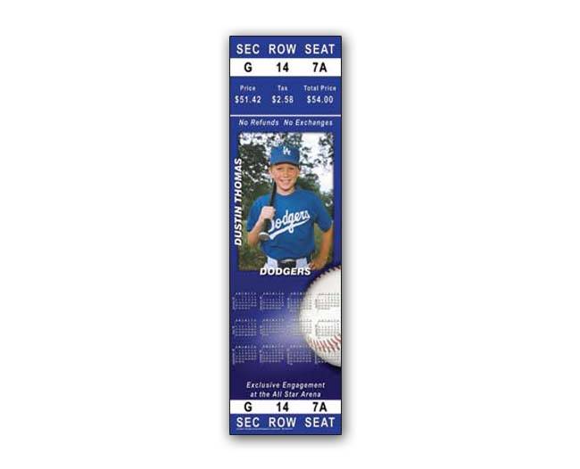 Game Day Ticket Door Poster