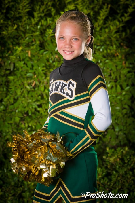 Cheer Team and Individual Portraits in Fresno
